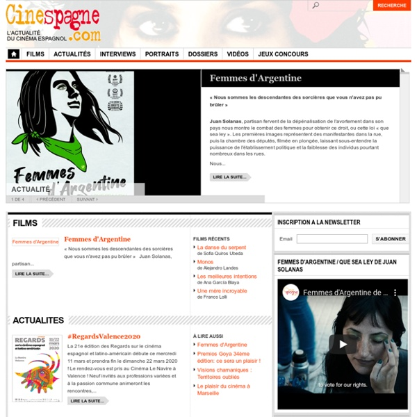 Tout le cinéma espagnol - Cinespagne.com