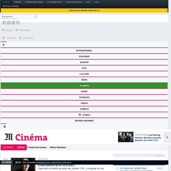 Cinéma : Toute l'actualité sur Le Monde.fr.