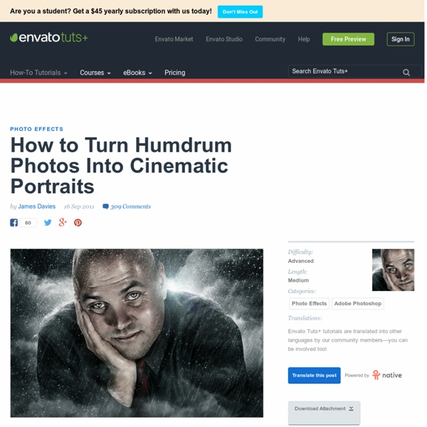 How to Turn Humdrum Photos Into Cinematic Portraits