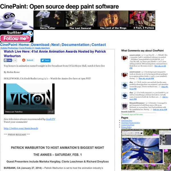 CinePaint — Open source deep paint software