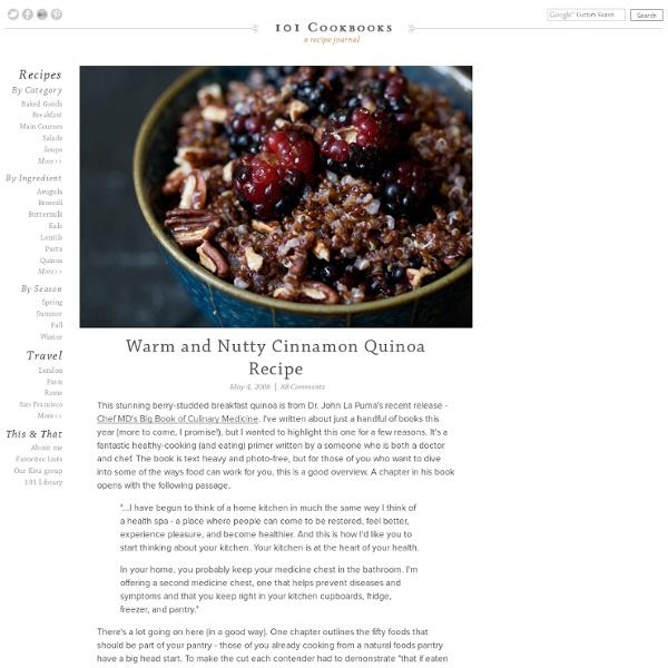 Warm and Nutty Cinnamon Quinoa Recipe | Pearltrees