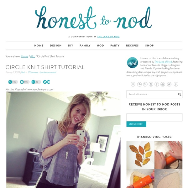 Circle Knit Shirt Tutorial