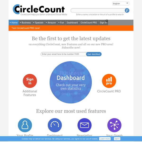 CircleCount.com - Get your CircleRank and see the most popular people at Google+