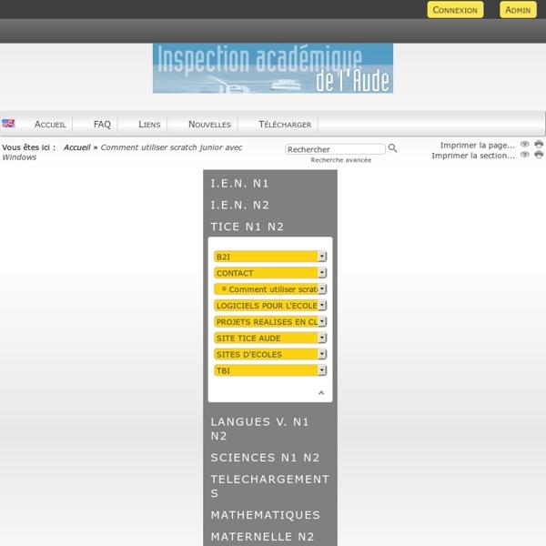 Site des circonscriptions de NARBONNE1 et 2 - Comment utiliser scratch junior avec Windows