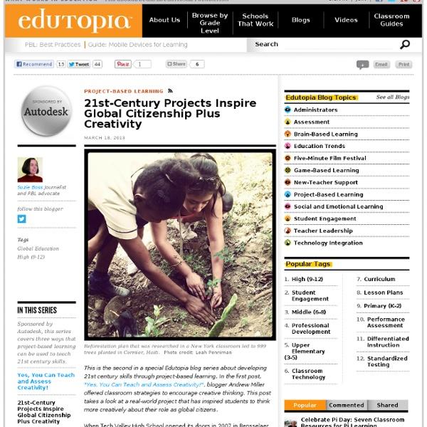 21st-Century Projects Inspire Global Citizenship Plus Creativity