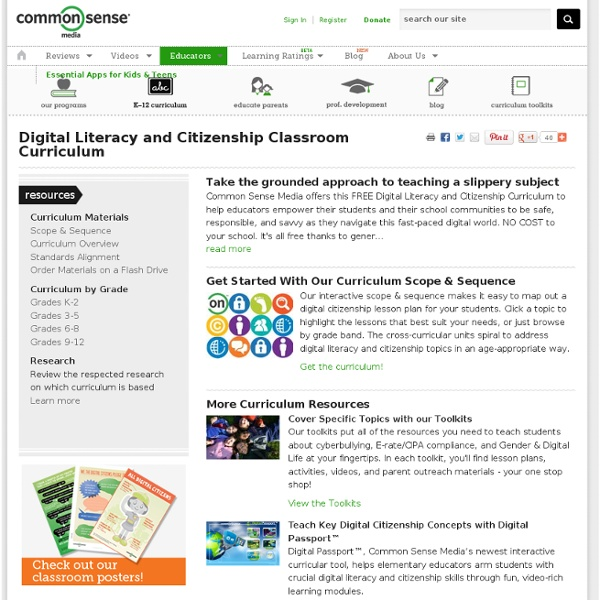 Digital Literacy and Citizenship Classroom Curriculum