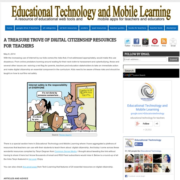 A Treasure Trove of Digital Citizenship Resources for Teachers