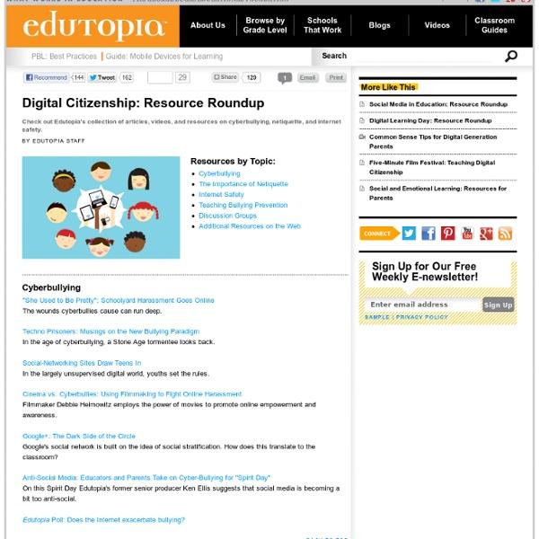Digital Citizenship: Resource Roundup
