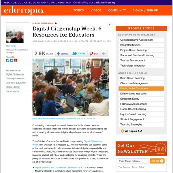 Digital Citizenship Week: 6 Resources for Educators