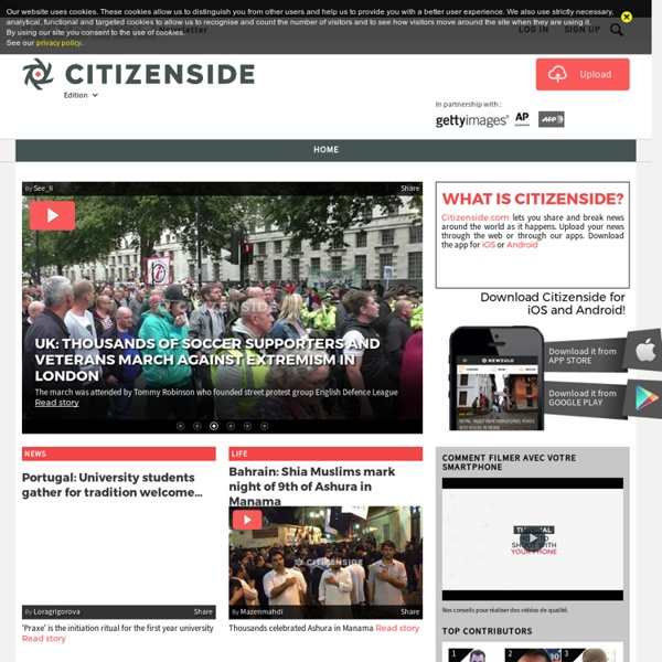 Citizenside, the global news community.