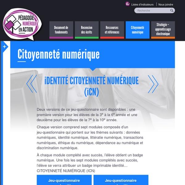 iDENTITÉ CITOYENNETÉ NUMÉRIQUE (iCN)