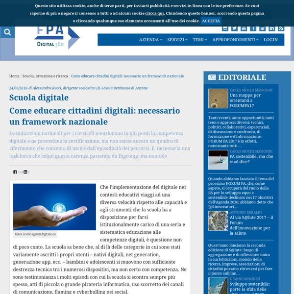 Come educare cittadini digitali: necessario un framework nazionale