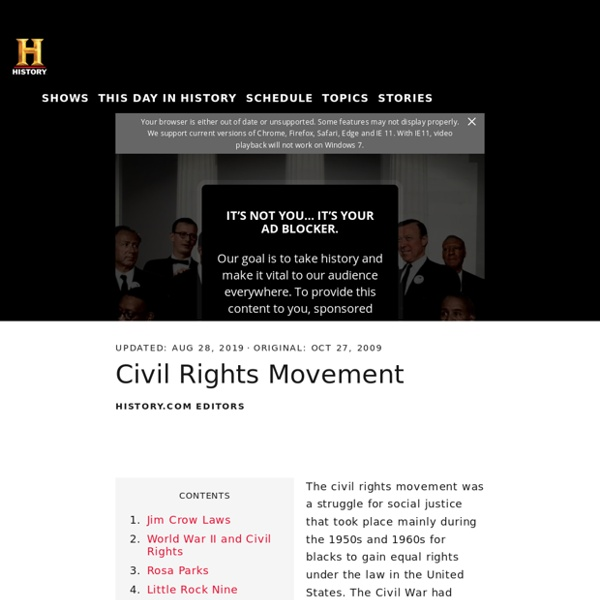 Civil Rights Movement - Black History
