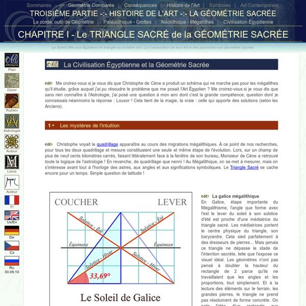 Triangle Sacré - Géométrie Sacrée de la Civilisation Égyptienne