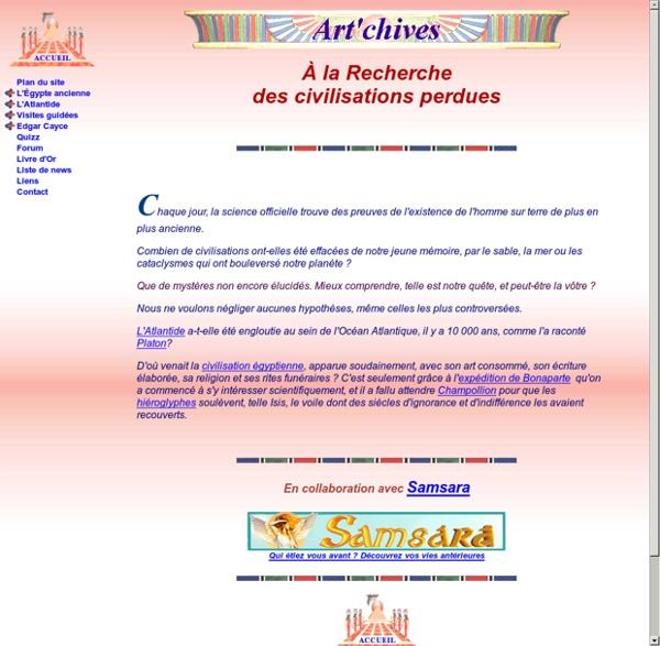Art'Chives, les civilisations perdues : Atlantide et Egypte