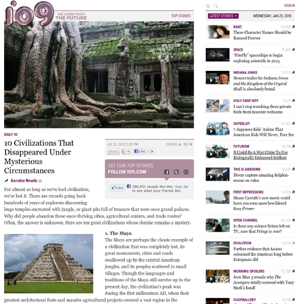 Anthropology News, Videos, Reviews and Gossip - io9