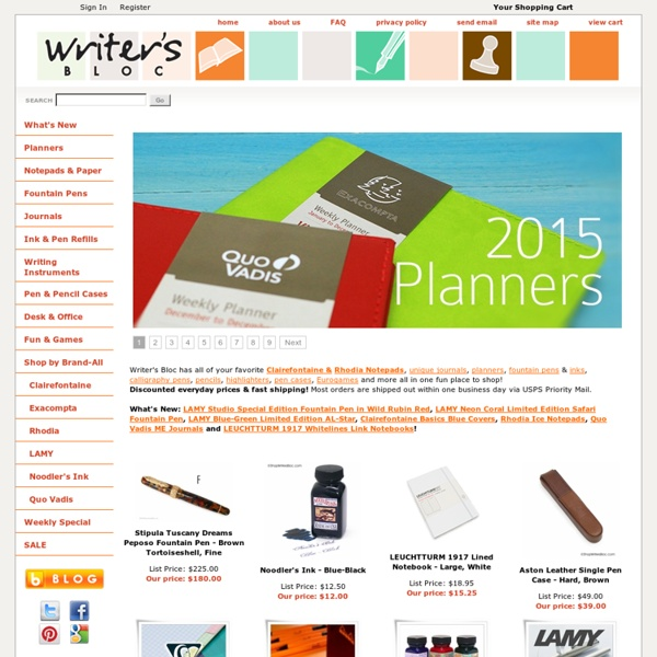 Writer's Bloc - Clairefontaine Notepads, Rhodia, Unique Journals, LAMY, Noodlers Ink