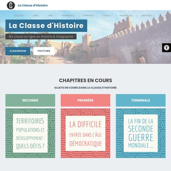 La Classe d'Histoire – Ma classe en ligne en Histoire & Géographie