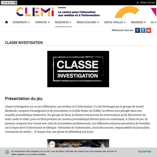 Classe Investigation- CLEMI