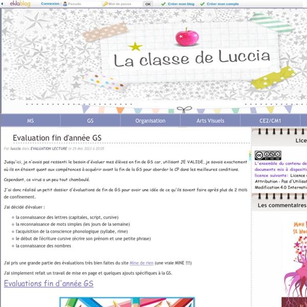 La classe de Luccia ! - Ressources pour le CE2/CM1 et GS/CP