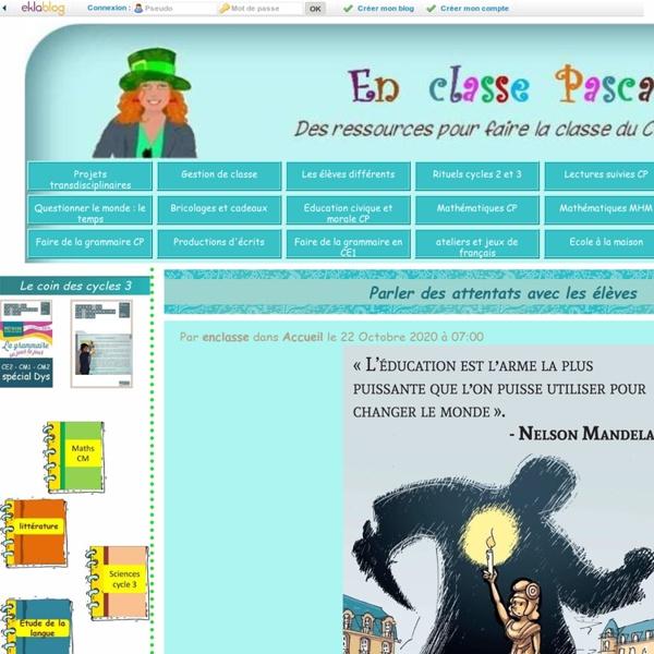 En classe Pascale ! - le blog d'une maîtresse de cm1 - cm2 (que des CM2 cette année !)