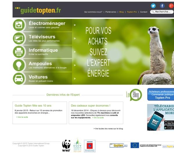 Topten: Le classement écologique des appareils économes en énergie