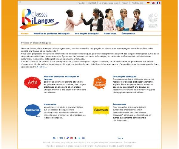 Classes bilangues - Projets en classe bilangues-Goethe-Institut