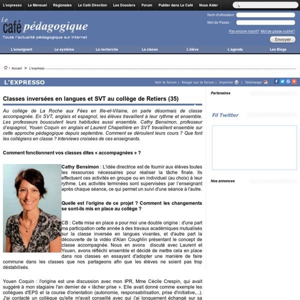 Classes inversées en langues et SVT au collège de Retiers (35)