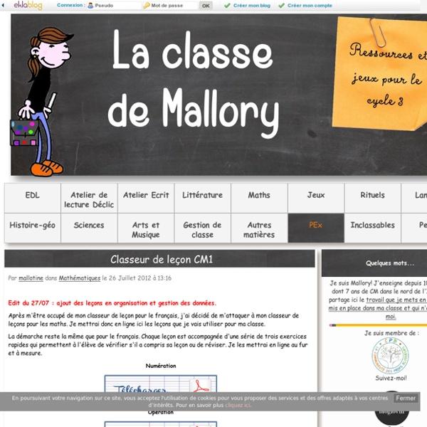 Classeur de leçon CM1