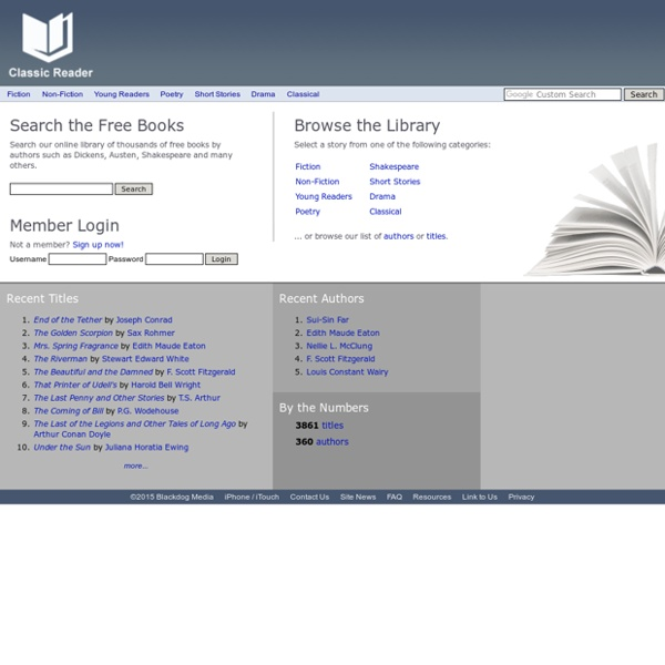 Free Classic Books Online at Classic Reader