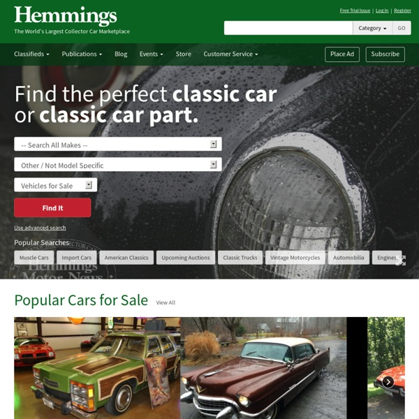 Hemmings Motor News: Auto Classifieds - Hemmings Auto Classifieds feature cars for sale nation wide.