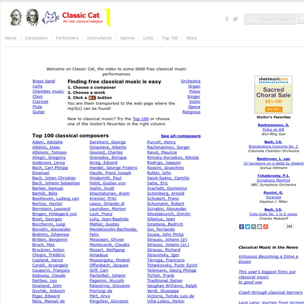 Classic Cat - the free classical music directory