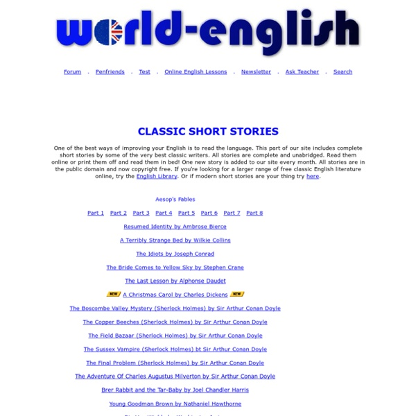 Classic short stories - 100% FREE