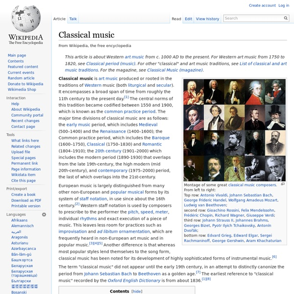 Western Classical Music (history)