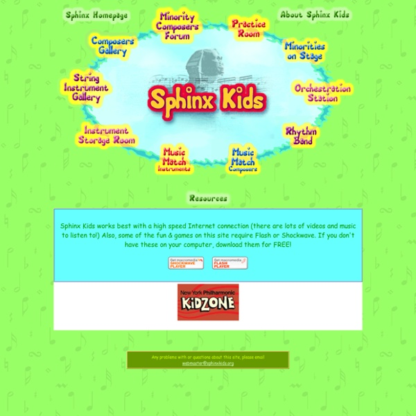 Sphinx Kids! Classical Music Interactive Learning & Games