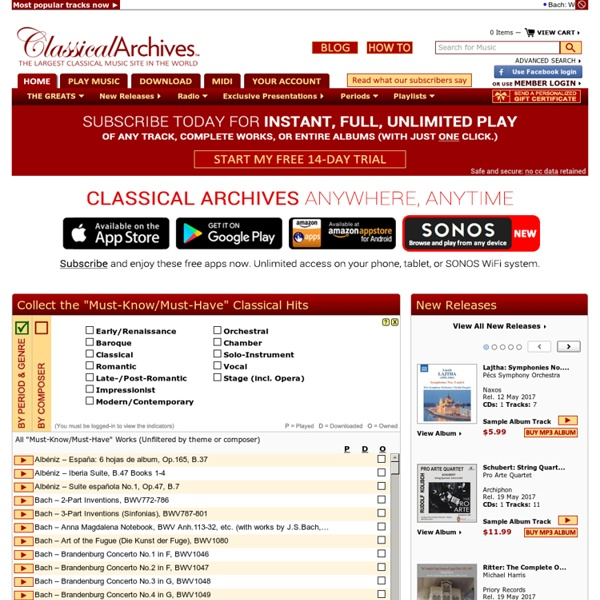Classical Music on Classical Archives: Home