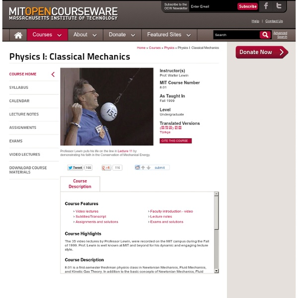 Physics I: Classical Mechanics