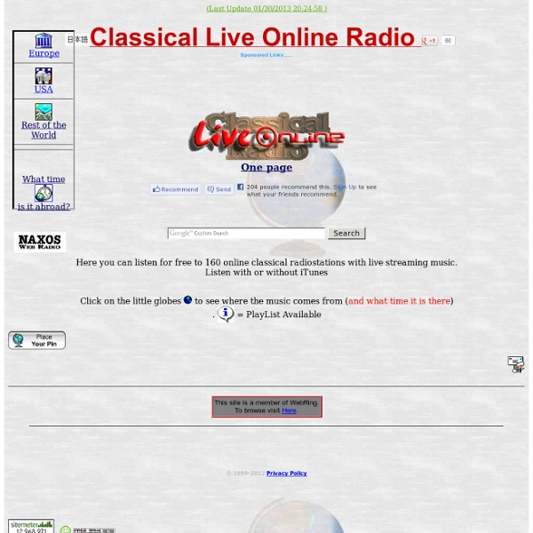 Classical Live Online Radio Webcast - Free Streaming Classical Music.