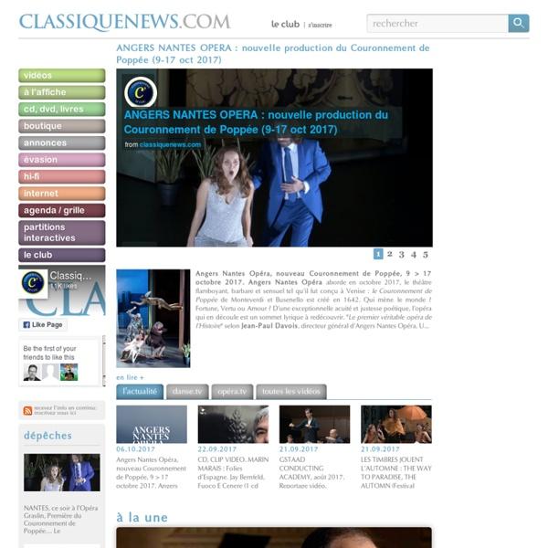 Le e-quotidien 100% musique classique: l'actualité au quotidien