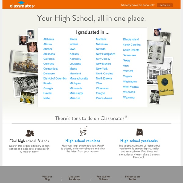 Find your school, yearbooks and alumni online