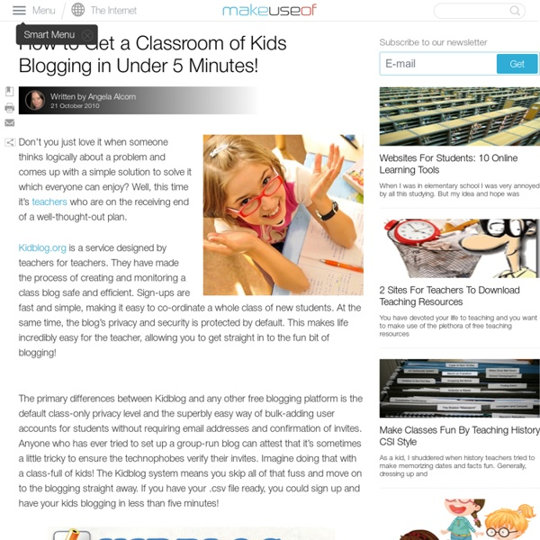 How to Get a Classroom of Kids Blogging in Under 5 Minutes!