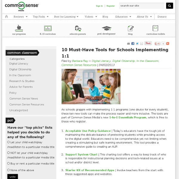 10 Must-Have Tools for Schools Implementing 1:1