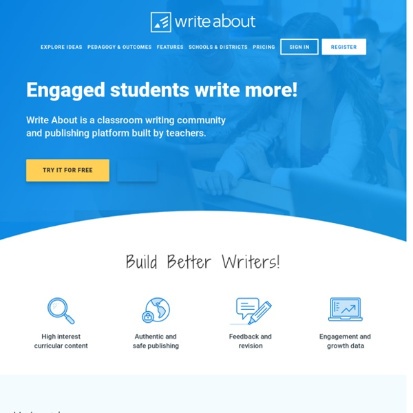 Write About - Digital Writing for Classrooms