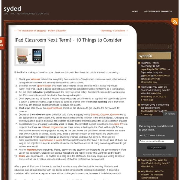iPad Classroom Next Term? – 10 Things to Consider