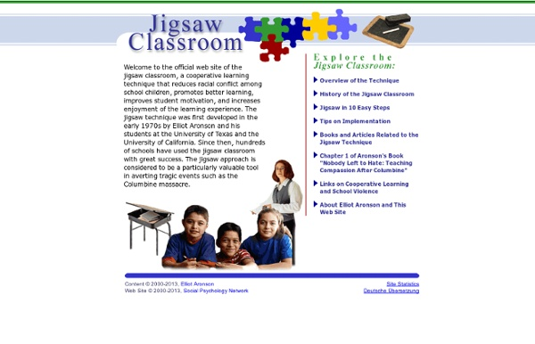 The Jigsaw Classroom: A Cooperative Learning Technique