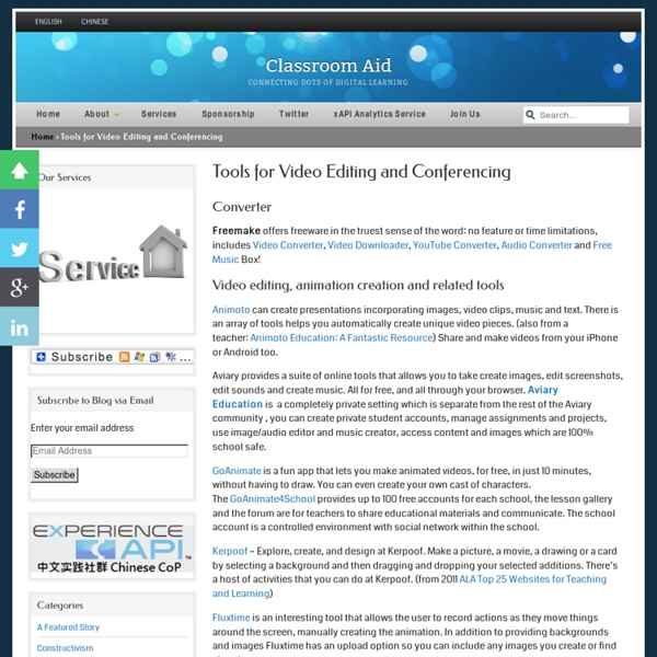 Tools for Video Editing and Conferencing