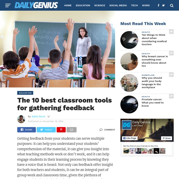 The 10 best classroom tools for gathering feedback