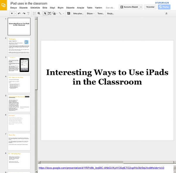 47 Interesting Ways* to use an iPad in the Classroom