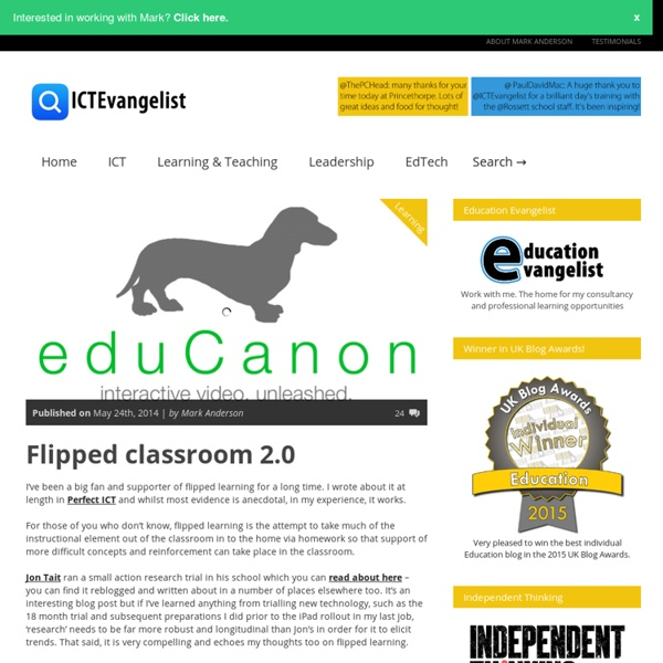 Flipped classroom 2.0