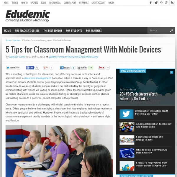 5 Tips for Classroom Management With Mobile Devices